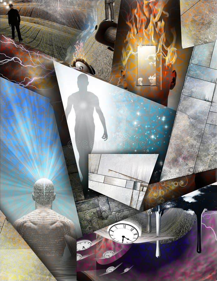 Χρόνος, σκέψεις και ιδέες ελεύθερη απεικόνιση δικαιώματος