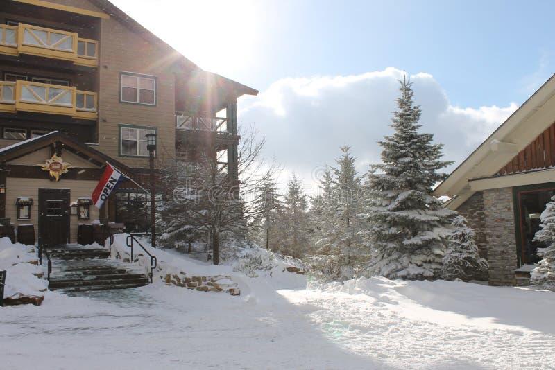 Χρόνος σκι στοκ εικόνα με δικαίωμα ελεύθερης χρήσης