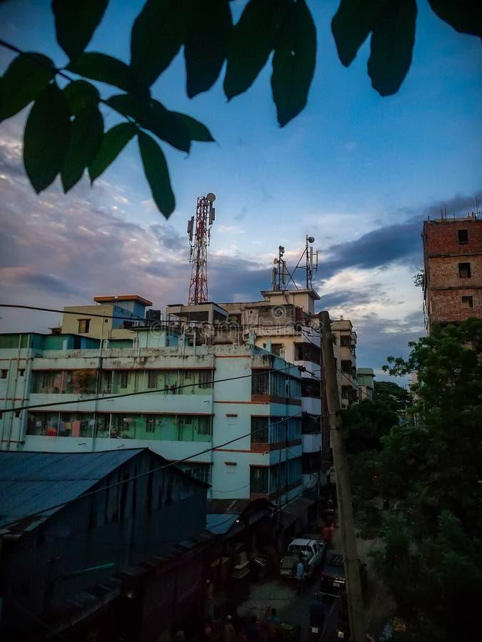 χρόνος σούρουπου πόλεων dhaka στοκ εικόνες με δικαίωμα ελεύθερης χρήσης