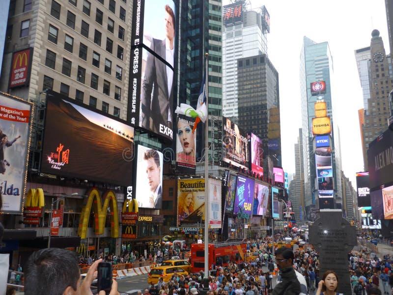 Χρόνος τετραγωνική Νέα Υόρκη στοκ φωτογραφία με δικαίωμα ελεύθερης χρήσης