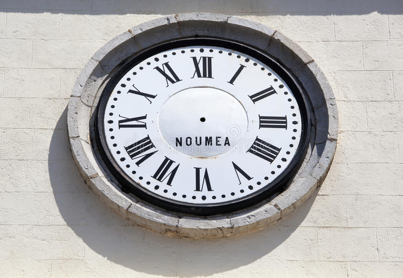 Χρόνος της Νέας Καληδονίας στοκ φωτογραφία