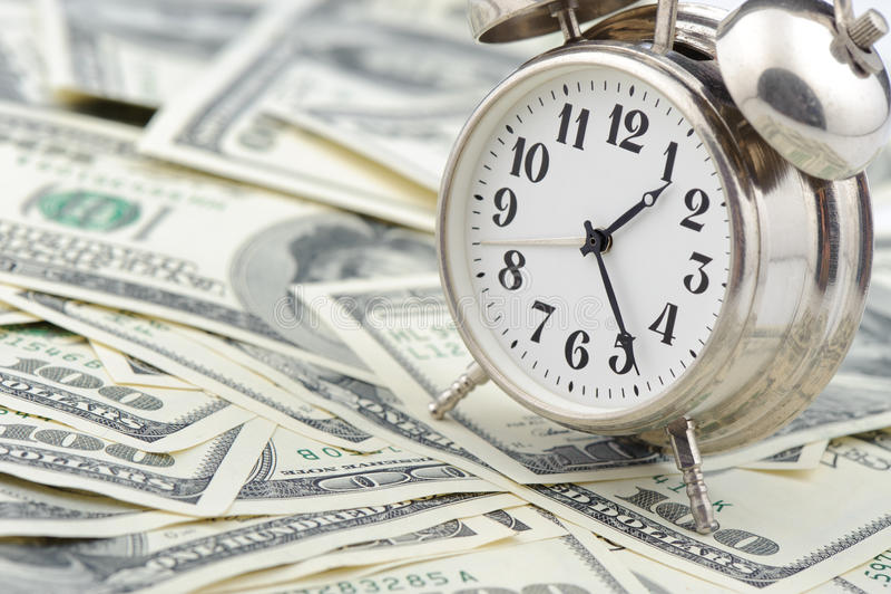 χρόνος χρημάτων επιχειρησ&io στοκ εικόνες με δικαίωμα ελεύθερης χρήσης