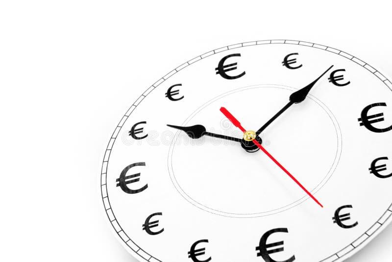 χρόνος χρημάτων ευρώ στοκ εικόνες με δικαίωμα ελεύθερης χρήσης