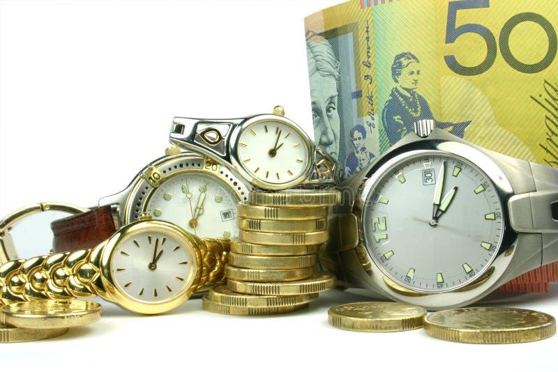 χρόνος χρημάτων μερών στοκ εικόνες με δικαίωμα ελεύθερης χρήσης