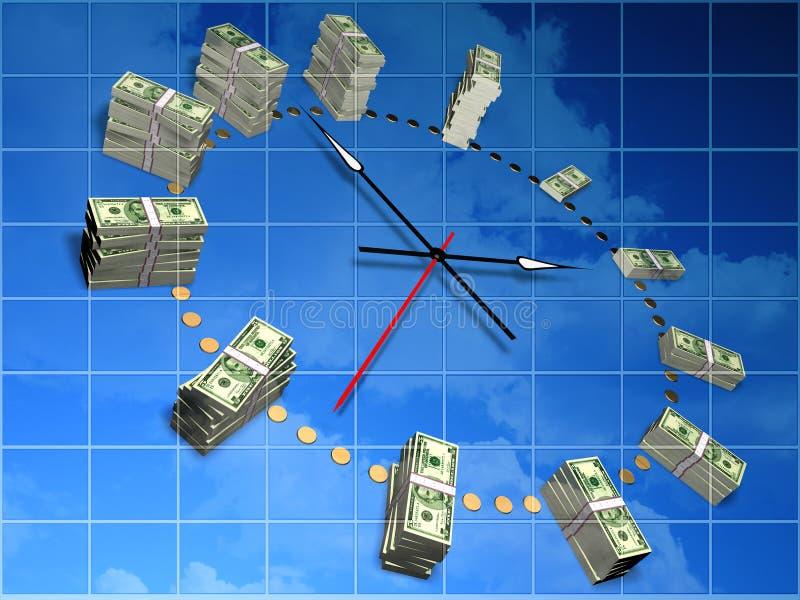 χρόνος χρημάτων διανυσματική απεικόνιση