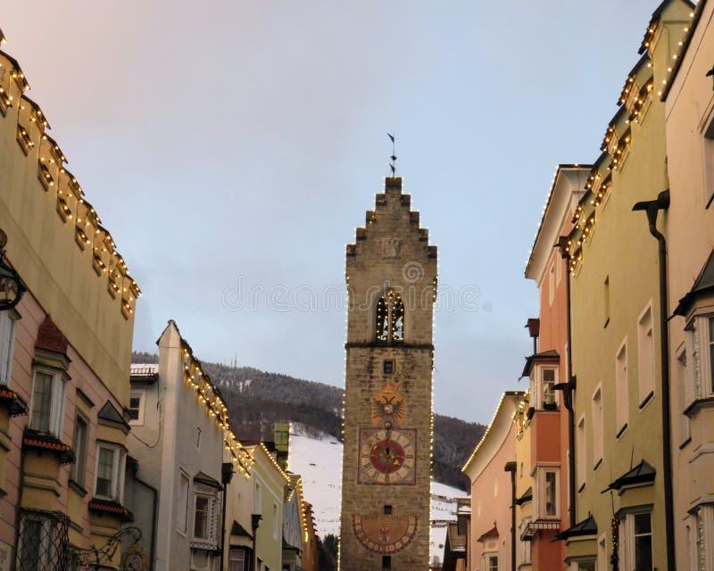 Χρόνος Χριστουγέννων σε Brunico στοκ εικόνες με δικαίωμα ελεύθερης χρήσης