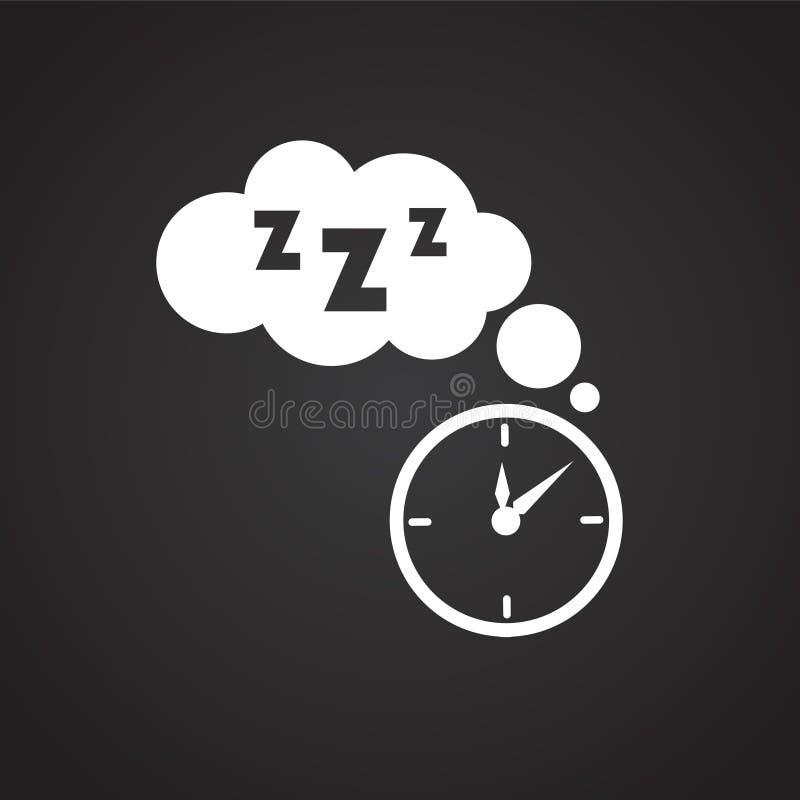 Χρόνος ύπνου στο μαύρο υπόβαθρο ελεύθερη απεικόνιση δικαιώματος