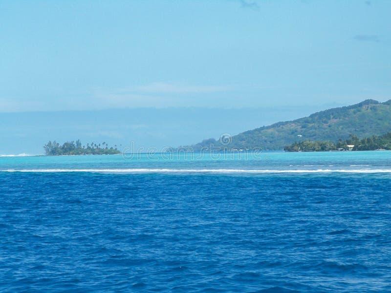 Χρώματα θάλασσας Moorea στοκ εικόνα με δικαίωμα ελεύθερης χρήσης