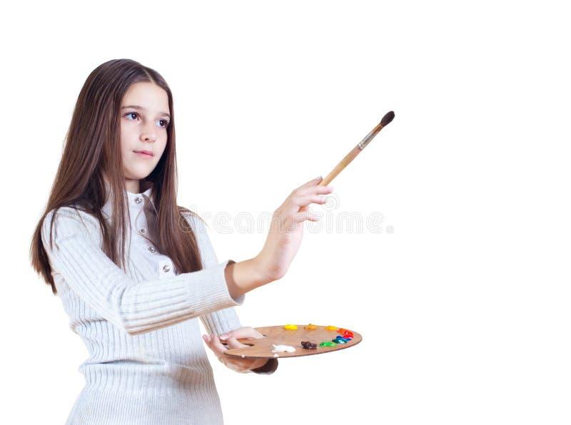 χρώματα κοριτσιών στοκ εικόνα με δικαίωμα ελεύθερης χρήσης