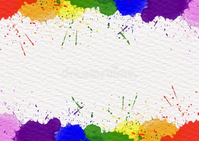 Χρώματα ουράνιων τόξων που πέφτουν στη σύσταση της Λευκής Βίβλου στοκ φωτογραφία