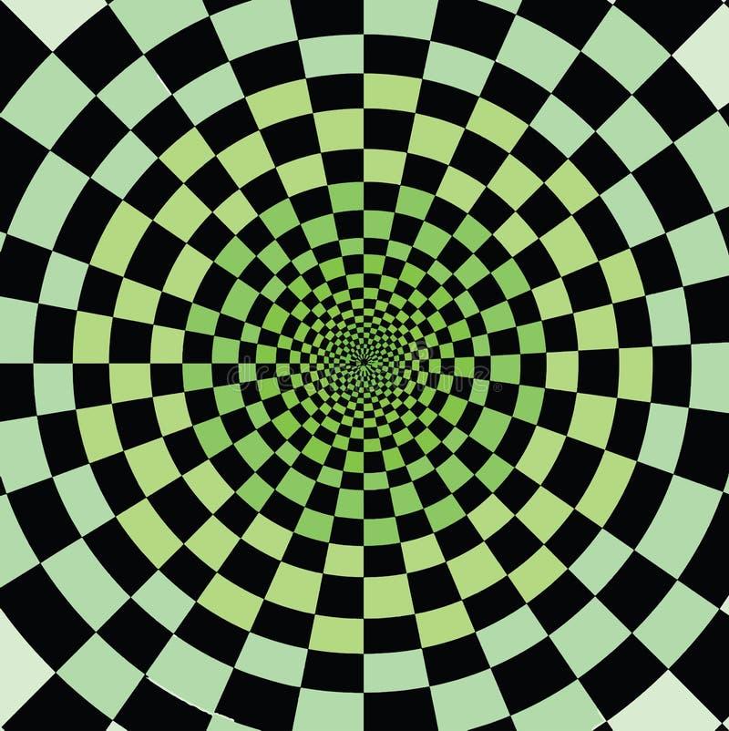 Χρώματα πράσινου, παραίσθηση Ακριβώς ρολόι αυτό διανυσματική απεικόνιση