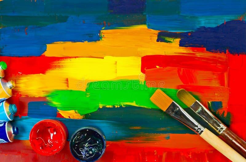 Χρώματα τέχνης στοκ εικόνες με δικαίωμα ελεύθερης χρήσης