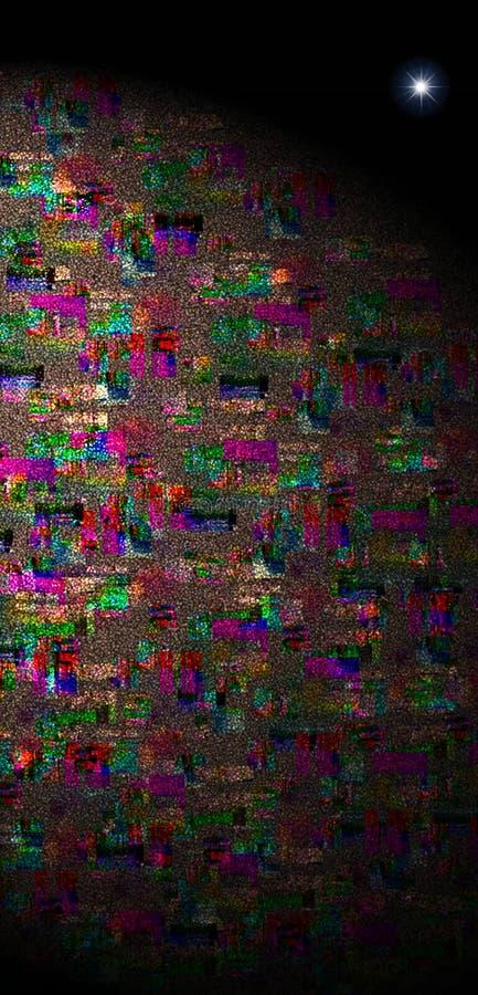 Χρώματα ταπετσαρίας πλανήτης με ένα αστέρι στοκ φωτογραφία με δικαίωμα ελεύθερης χρήσης