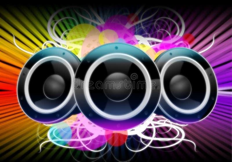 Χρώματα της μουσικής διανυσματική απεικόνιση