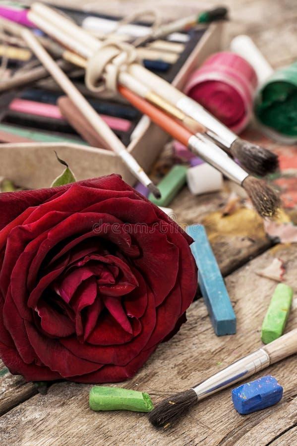 Χρώματα χρώματος, κραγιόνια στοκ εικόνες