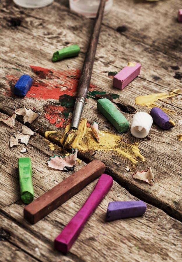 Χρώματα χρώματος, κραγιόνι στοκ φωτογραφία με δικαίωμα ελεύθερης χρήσης