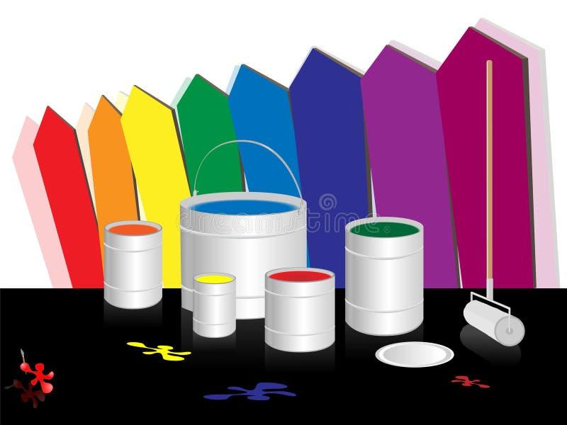 χρώματα χρώματος ελεύθερη απεικόνιση δικαιώματος