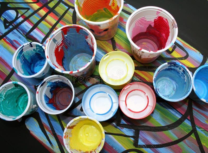 χρώματα acrylics στοκ εικόνες