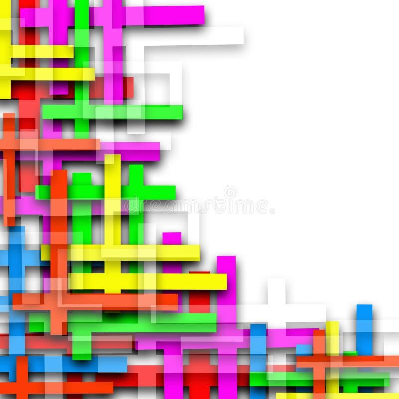 Χρώματος γραμμών ζωηρόχρωμο υπόβαθρο απεικόνισης μωσαϊκών αφηρημένο ελεύθερη απεικόνιση δικαιώματος