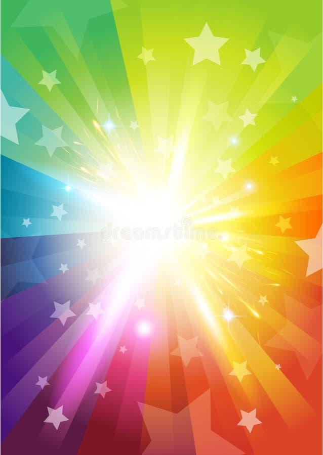 χρώμα έκρηξης ανασκόπησης ελεύθερη απεικόνιση δικαιώματος