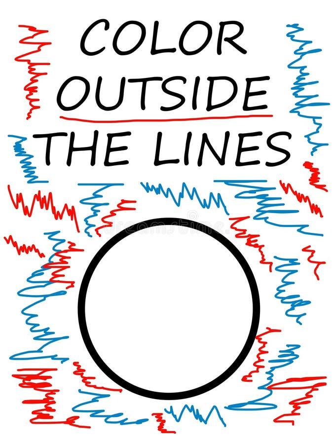 Χρώμα έξω από τις γραμμές ελεύθερη απεικόνιση δικαιώματος