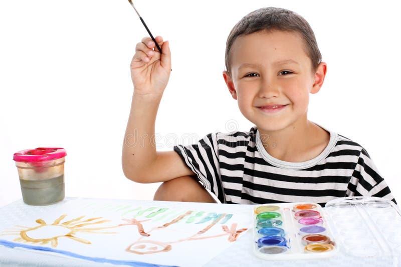 χρώμα αγοριών στοκ εικόνα