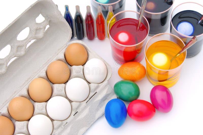 Χρώμα αυγών Πάσχας στοκ φωτογραφίες με δικαίωμα ελεύθερης χρήσης