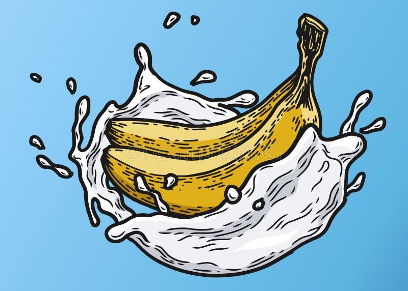 Χρώμα γάλακτος μπανανών απεικόνιση αποθεμάτων