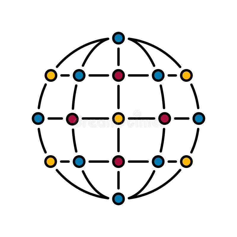 Χρώμα δικτύων ελεύθερη απεικόνιση δικαιώματος
