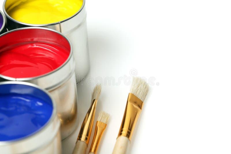 χρώμα δοχείων στοκ εικόνες
