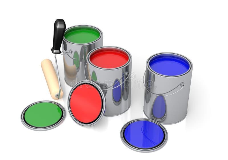 χρώμα δοχείων απεικόνιση αποθεμάτων