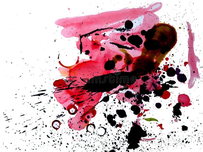 χρώμα επίδρασης splat ελεύθερη απεικόνιση δικαιώματος