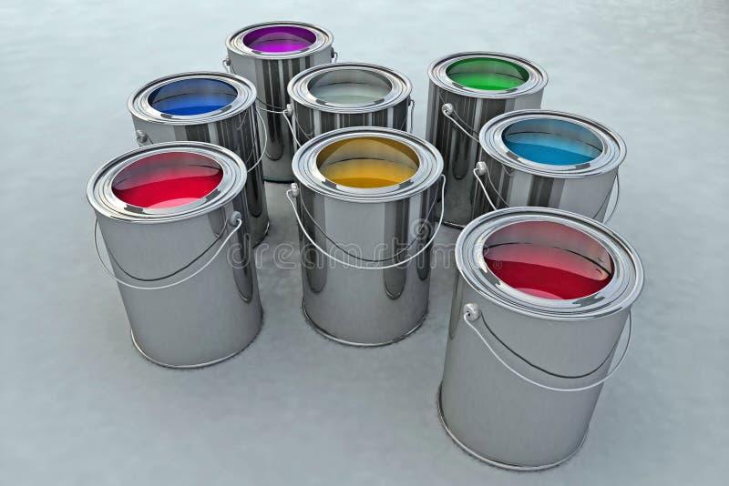 χρώμα κάδων απεικόνιση αποθεμάτων