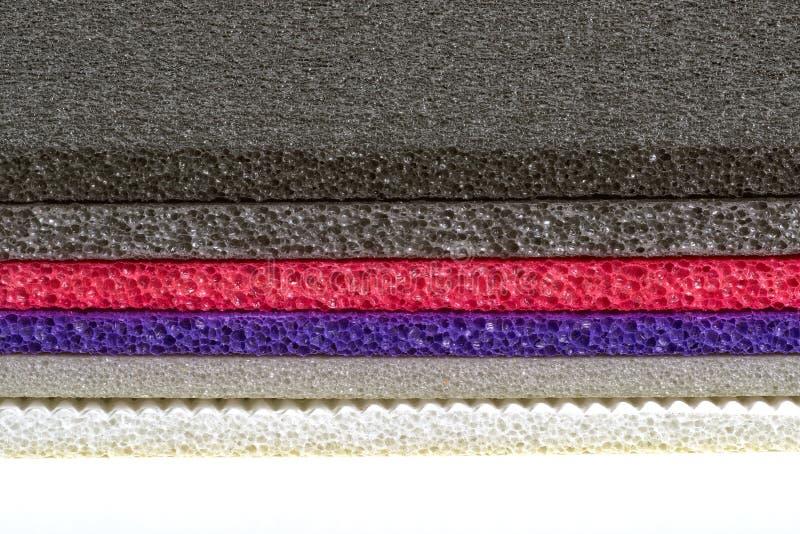 Χρώμα και τύπος υλικό προστατευόμενο από τους κραδασμούς Clos αφρού πολυαιθυλενίου στοκ φωτογραφίες με δικαίωμα ελεύθερης χρήσης