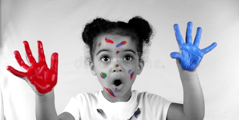 χρώμα κοριτσιών στοκ εικόνα με δικαίωμα ελεύθερης χρήσης