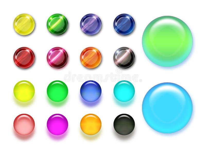 χρώμα κουμπιών ελεύθερη απεικόνιση δικαιώματος