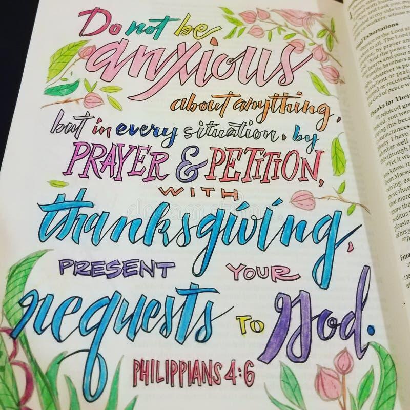 Χρώμα με τη λέξη Θεών στοκ εικόνα