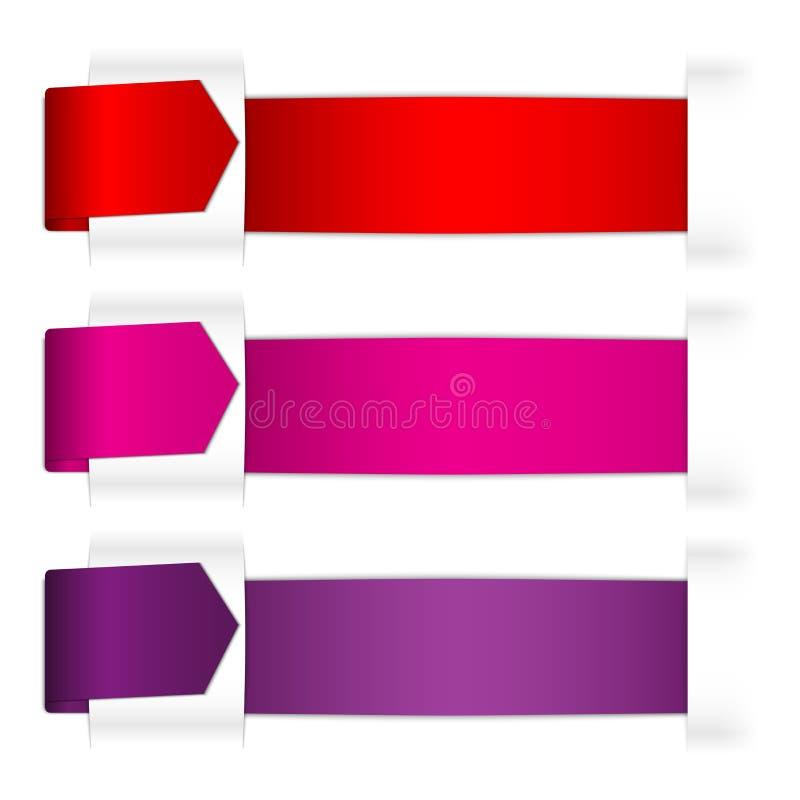 Χρώμα που διπλώνει το ένθετο κορδελλών κάτω από το χάσμα εγγράφου ελεύθερη απεικόνιση δικαιώματος