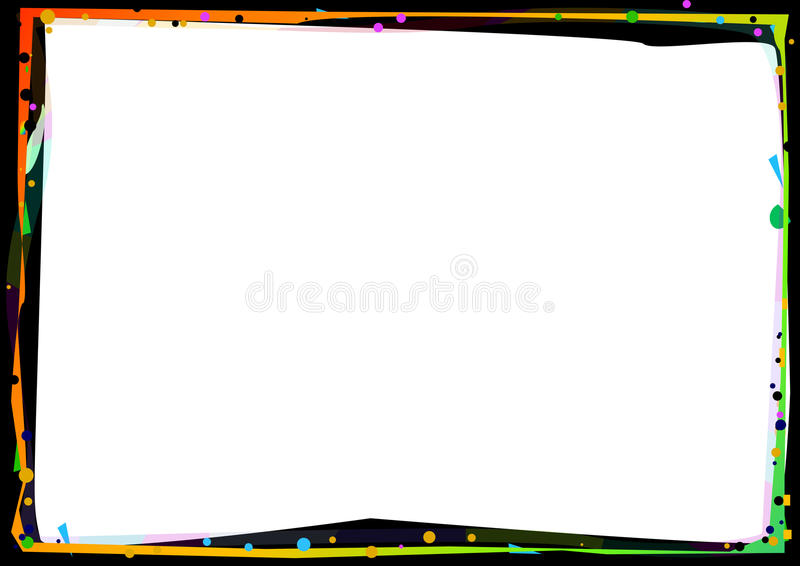 χρώμα συνόρων διανυσματική απεικόνιση