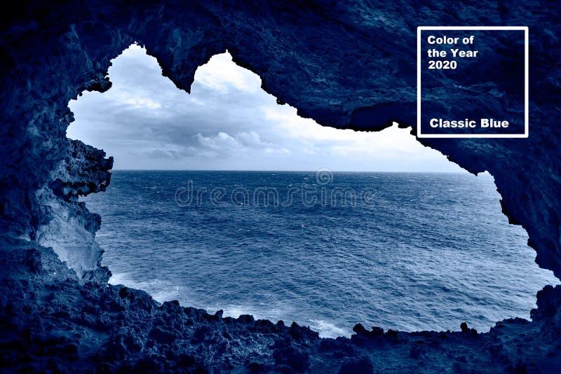 Χρώμα του έτους Κλασικό μπλε Υπόβαθρο του Πάσχα στοκ φωτογραφία με δικαίωμα ελεύθερης χρήσης