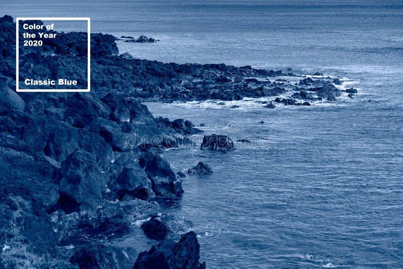 Χρώμα του έτους Κλασικό μπλε Φόντο του ωκεανού του Πάσχα στοκ φωτογραφία