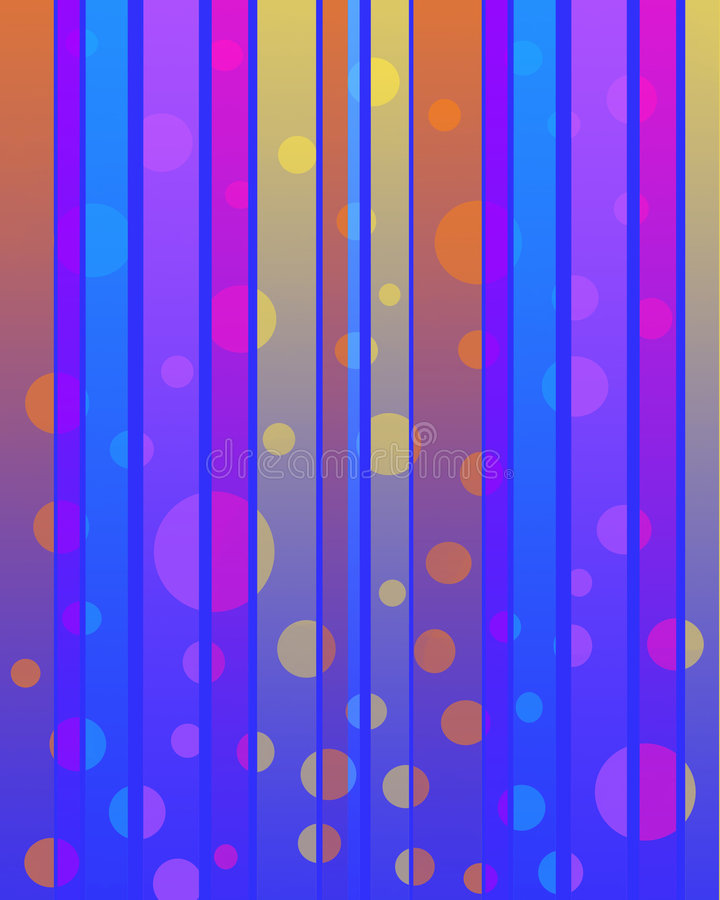 χρώμα φυσαλίδων διανυσματική απεικόνιση