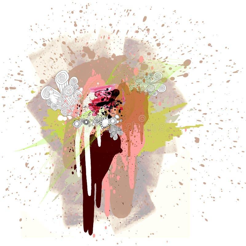 χρώμα χρώματος splat ελεύθερη απεικόνιση δικαιώματος