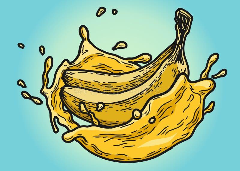 Χρώμα χυμού μπανανών ελεύθερη απεικόνιση δικαιώματος