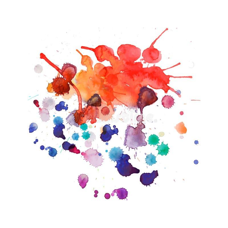 Χρώμα ψεκασμού, υπόβαθρο παφλασμών watercolor ελεύθερη απεικόνιση δικαιώματος