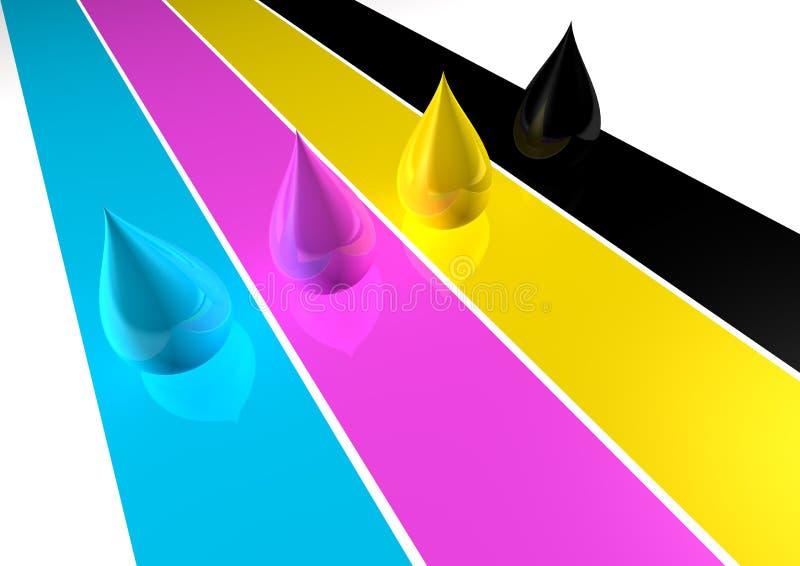 Χρώμα CMYK ελεύθερη απεικόνιση δικαιώματος