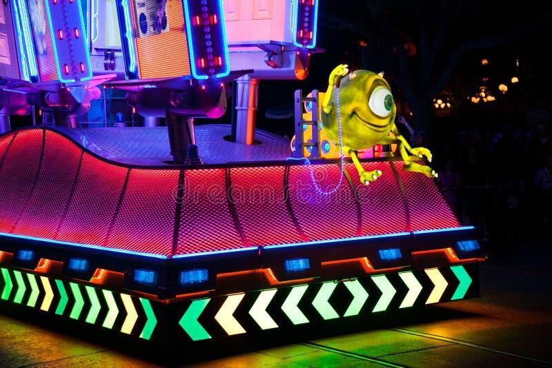 Χρώμα Disneyland ` s η παρέλαση νύχτας στοκ εικόνες με δικαίωμα ελεύθερης χρήσης