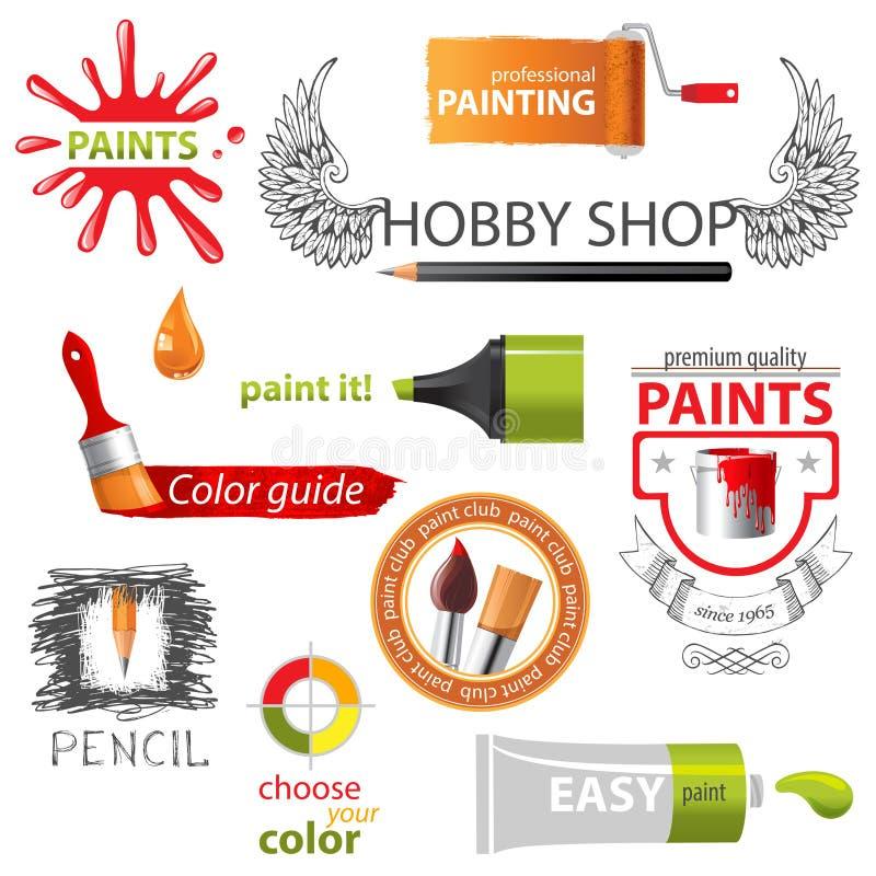 Χρώμα embems ελεύθερη απεικόνιση δικαιώματος