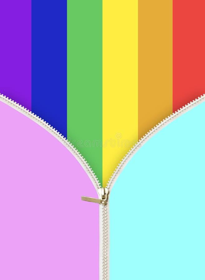 Χρώμα Lgbt με το φερμουάρ στοκ φωτογραφίες