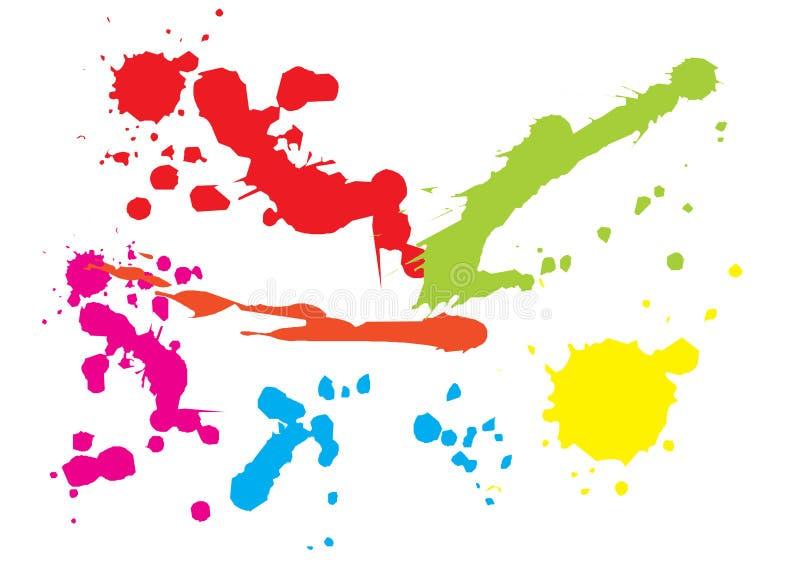 χρώμα splat στοκ φωτογραφίες με δικαίωμα ελεύθερης χρήσης
